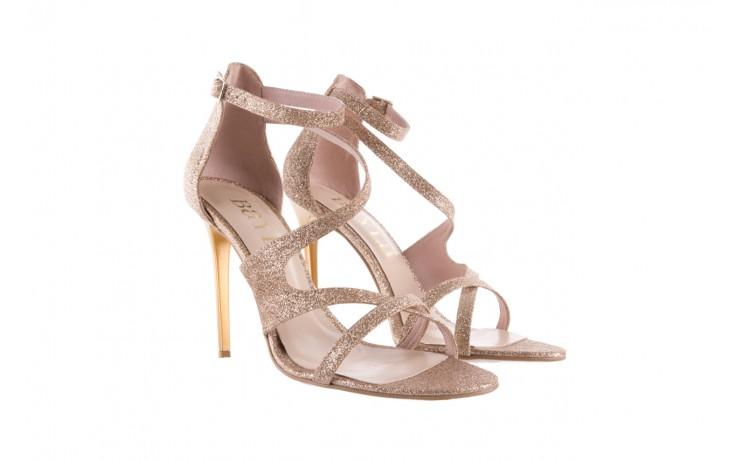Sandały bayla-097 11 złote sandały na szpilce z glitterem, materiał  - bayla - nasze marki 1