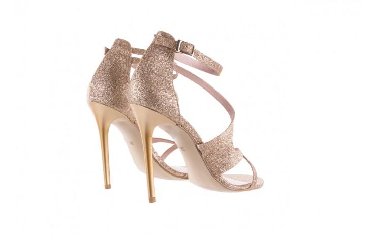Sandały bayla-097 11 złote sandały na szpilce z glitterem, materiał  - kolekcja ślubna - trendy - kobieta 3