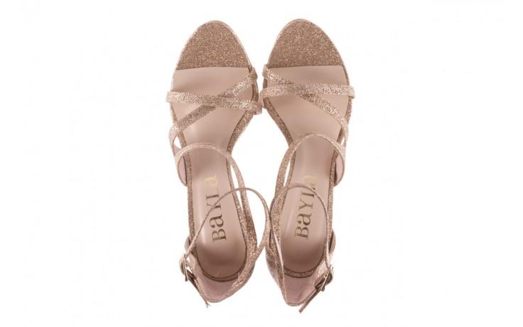 Sandały bayla-097 11 złote sandały na szpilce z glitterem, materiał  - kolekcja ślubna - trendy - kobieta 4