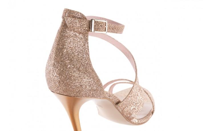 Sandały bayla-097 11 złote sandały na szpilce z glitterem, materiał  - kolekcja ślubna - trendy - kobieta 5
