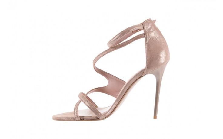 Sandały bayla-097 11 szampańskie sandały na szpilce, skóra naturalna 2