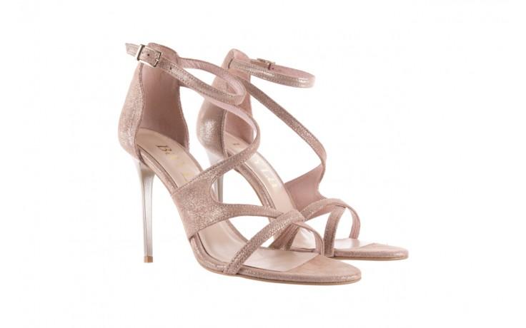 Sandały bayla-097 11 szampańskie sandały na szpilce, skóra naturalna 1