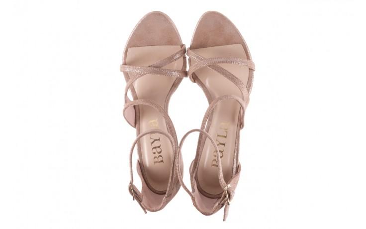 Sandały bayla-097 11 szampańskie sandały na szpilce, skóra naturalna 4