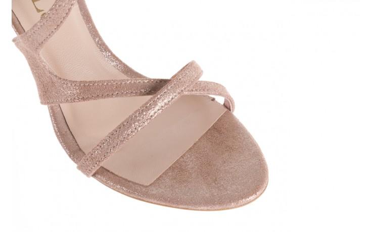 Sandały bayla-097 11 szampańskie sandały na szpilce, skóra naturalna 6