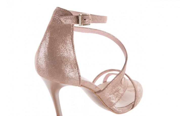 Sandały bayla-097 11 szampańskie sandały na szpilce, skóra naturalna 5