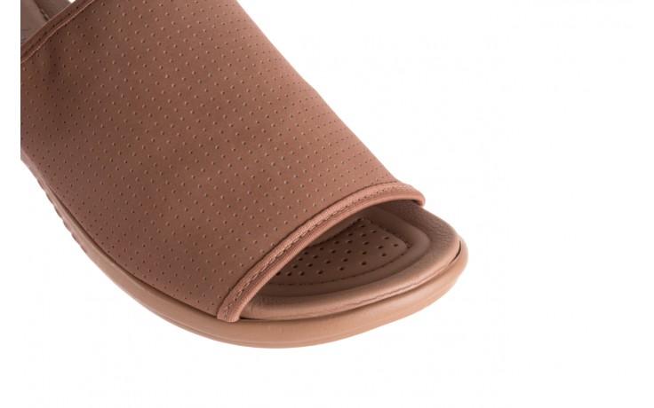 Klapki azaleia 322 661 nobuck nuts, brąz, materiał - azaleia - nasze marki 6