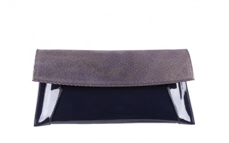 Bayla-097 torebka koperta sandra granatowo-złota - bayla - nasze marki