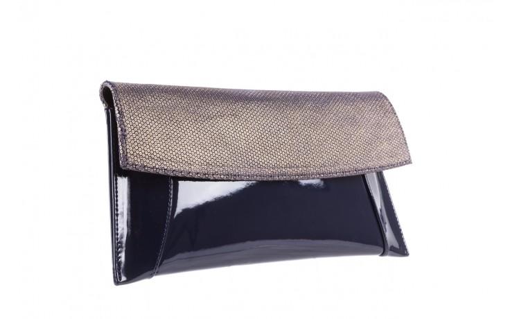 Bayla-097 torebka koperta sandra granatowo-złota - bayla - nasze marki 1