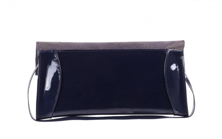 Bayla-097 torebka koperta sandra granatowo-złota - bayla - nasze marki 3