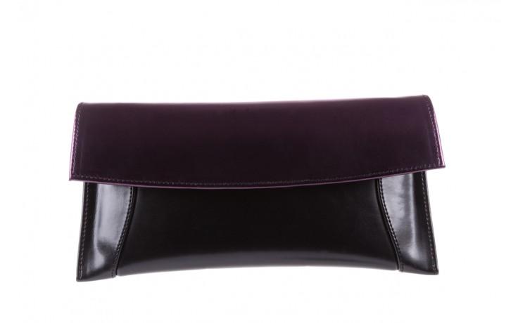 Torebka bayla-097 torebka koperta sandra czarno-fioletowa, skóra naturalna  - torebki - akcesoria - kobieta