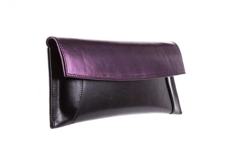 Torebka bayla-097 torebka koperta sandra czarno-fioletowa, skóra naturalna  - torebki - akcesoria - kobieta 1