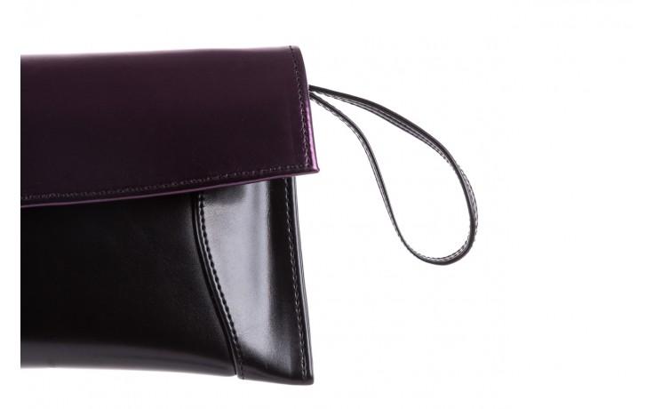 Torebka bayla-097 torebka koperta sandra czarno-fioletowa, skóra naturalna  - torebki - akcesoria - kobieta 4