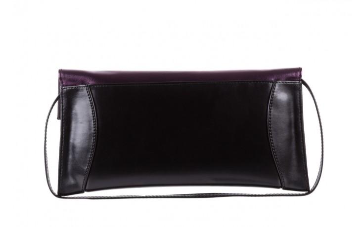 Torebka bayla-097 torebka koperta sandra czarno-fioletowa, skóra naturalna  - torebki - akcesoria - kobieta 3