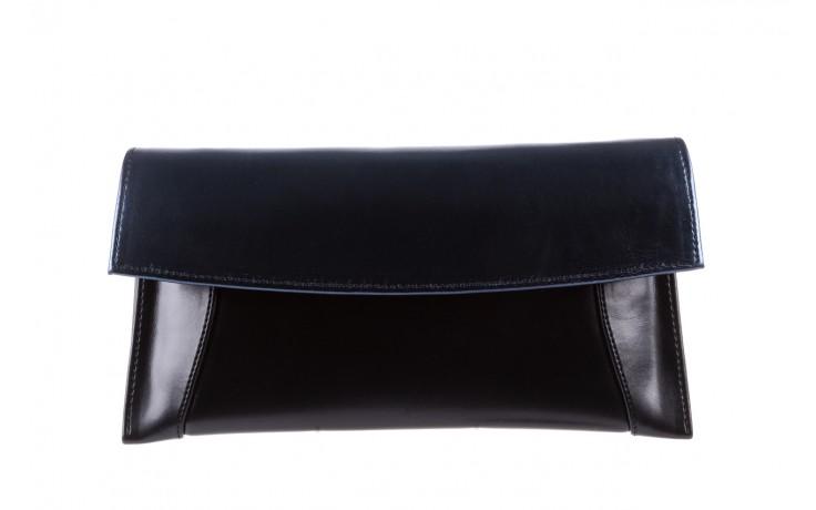 Torebka bayla-097 torebka koperta sandra czarno-granatowa, skóra naturalna