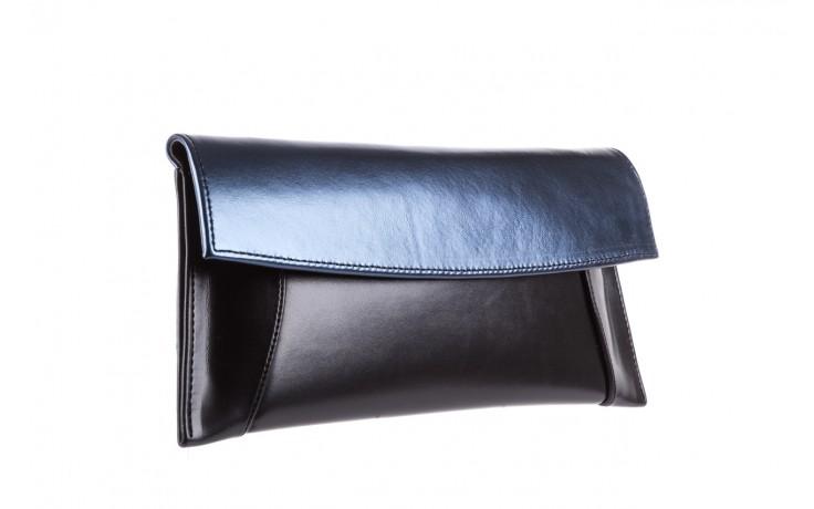 Torebka bayla-097 torebka koperta sandra czarno-granatowa, skóra naturalna  - bayla - nasze marki 1
