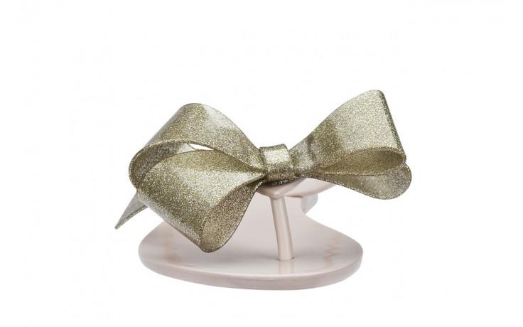 Klapki melissa harmonic bow iii ad beige glitter, beż, guma - melissa - nasze marki 3