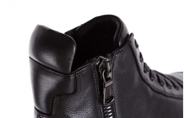 Sneakersy john doubare m5761-1 black, czarny , skóra naturalna  - trendy - mężczyzna 11