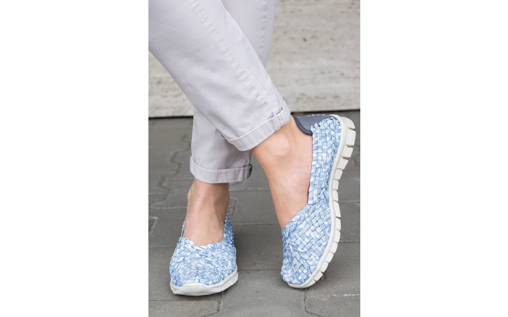 Półbuty rock carioca perena blue smoke 032826, niebieski/ biały, materiał - wsuwane - półbuty - buty damskie - kobieta 7
