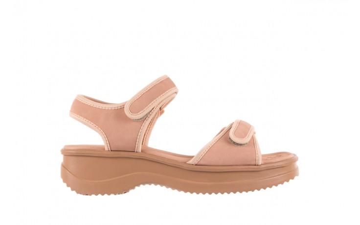 Sandały azaleia 320 750 nobuck nude, beż, materiał  - azaleia - nasze marki