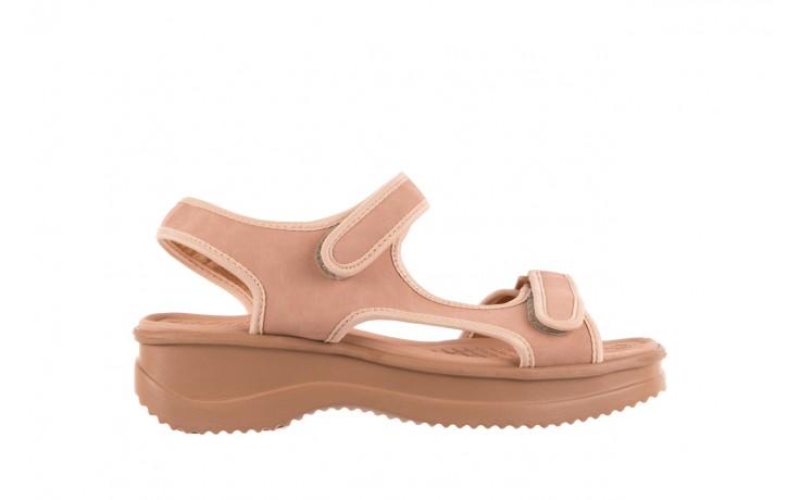 Sandały azaleia 320 751 nobuck nude, beż, materiał  - azaleia - nasze marki