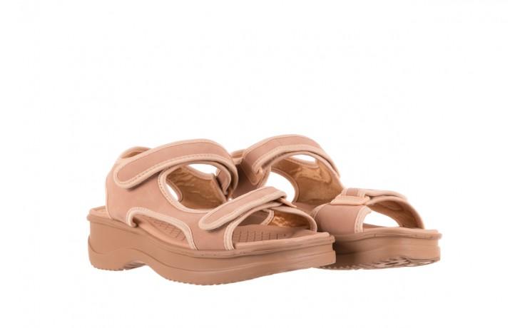 Sandały azaleia 320 751 nobuck nude, beż, materiał  - azaleia - nasze marki 1