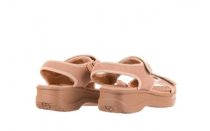 Sandały azaleia 320 751 nobuck nude, beż, materiał  - azaleia - nasze marki 3