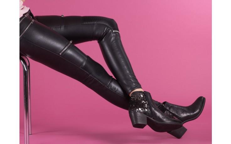 Botki bayla-131 7705 nero, czarny, skóra naturalna  - worker boots - trendy - kobieta 7