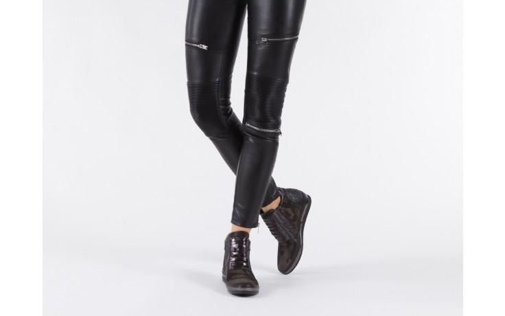 Sneakersy bayla-131 4006 grey, szary, skóra naturalna  - obuwie sportowe - dla niej - dodatkowe -10% 6
