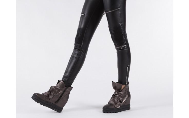 Botki bayla-136 g710 skóra antracyt, szary, skóra naturalna  - na platformie - botki - buty damskie - kobieta 7