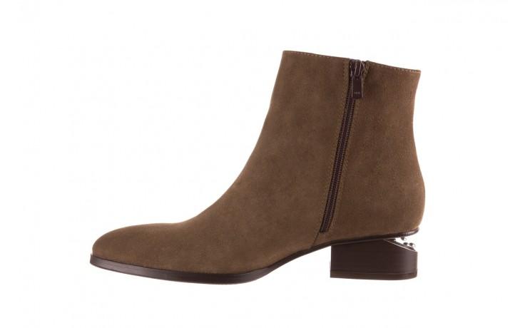 Botki bayla-177 b19101 jasnobrązowe botki, skóra naturalna - zamszowe - botki - buty damskie - kobieta 2