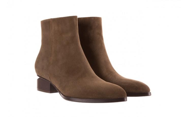 Botki bayla-177 b19101 jasnobrązowe botki, skóra naturalna - zamszowe - botki - buty damskie - kobieta 1
