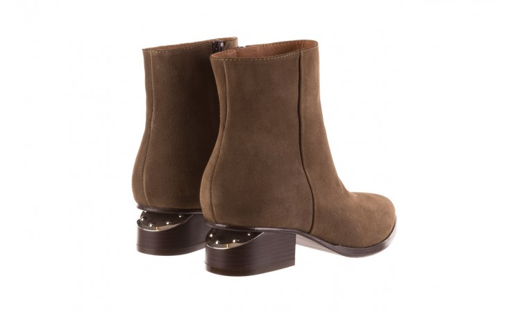 Botki bayla-177 b19101 jasnobrązowe botki, skóra naturalna - zamszowe - botki - buty damskie - kobieta 3
