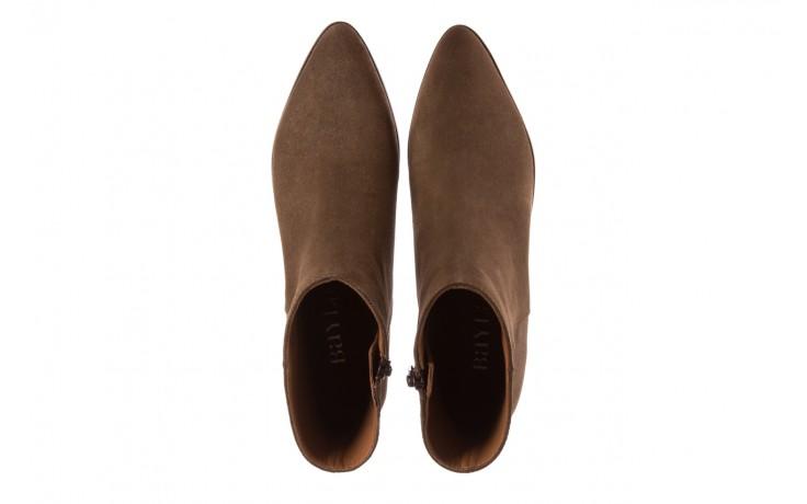 Botki bayla-177 b19101 jasnobrązowe botki, skóra naturalna - zamszowe - botki - buty damskie - kobieta 4