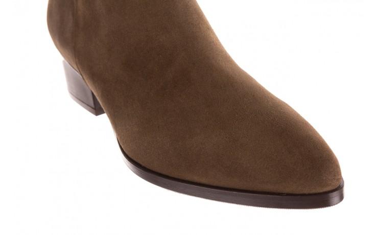 Botki bayla-177 b19101 jasnobrązowe botki, skóra naturalna - zamszowe - botki - buty damskie - kobieta 5