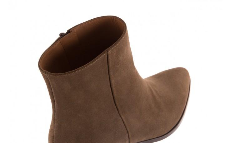 Botki bayla-177 b19101 jasnobrązowe botki, skóra naturalna - zamszowe - botki - buty damskie - kobieta 6