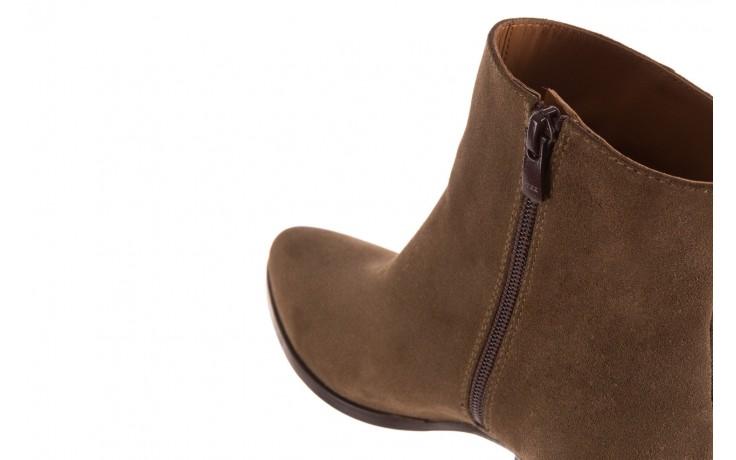 Botki bayla-177 b19101 jasnobrązowe botki, skóra naturalna - zamszowe - botki - buty damskie - kobieta 7