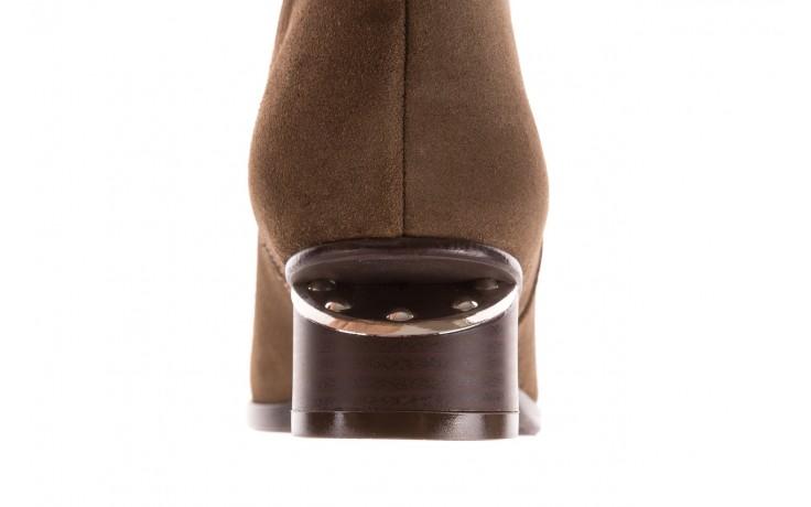 Botki bayla-177 b19101 jasnobrązowe botki, skóra naturalna - zamszowe - botki - buty damskie - kobieta 8