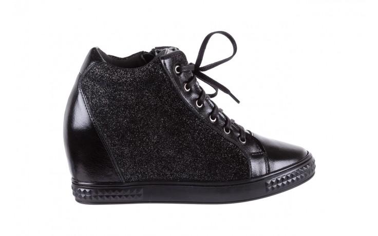 Sneakersy bayla-154 w-781 czarny, skóra naturalna