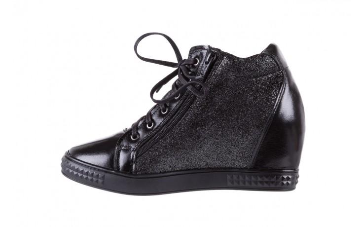 Sneakersy bayla-154 w-781 czarny, skóra naturalna 2