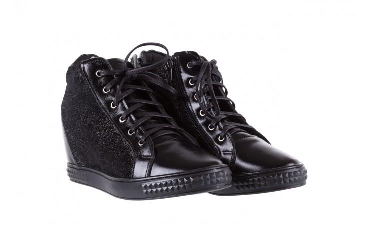 Sneakersy bayla-154 w-781 czarny, skóra naturalna 1