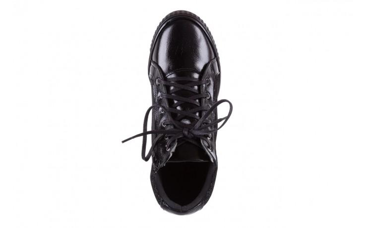 Sneakersy bayla-154 w-781 czarny, skóra naturalna 4