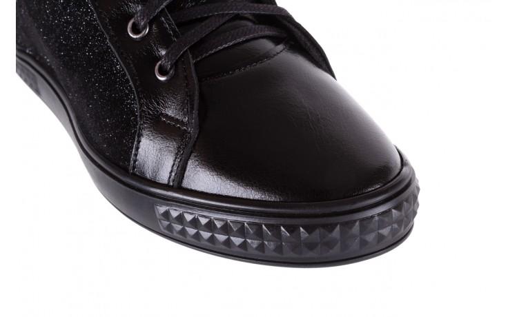 Sneakersy bayla-154 w-781 czarny, skóra naturalna 5