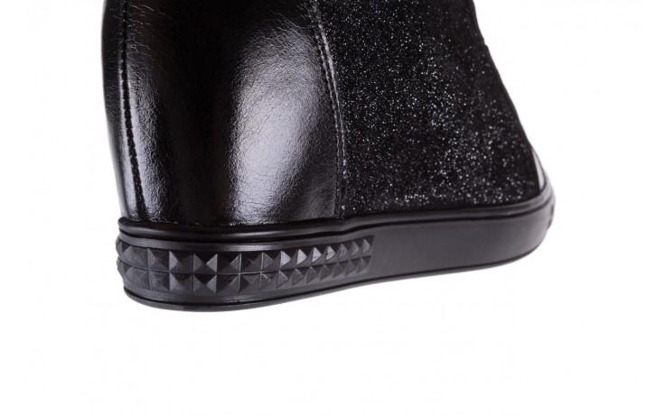 Sneakersy bayla-154 w-781 czarny, skóra naturalna 7