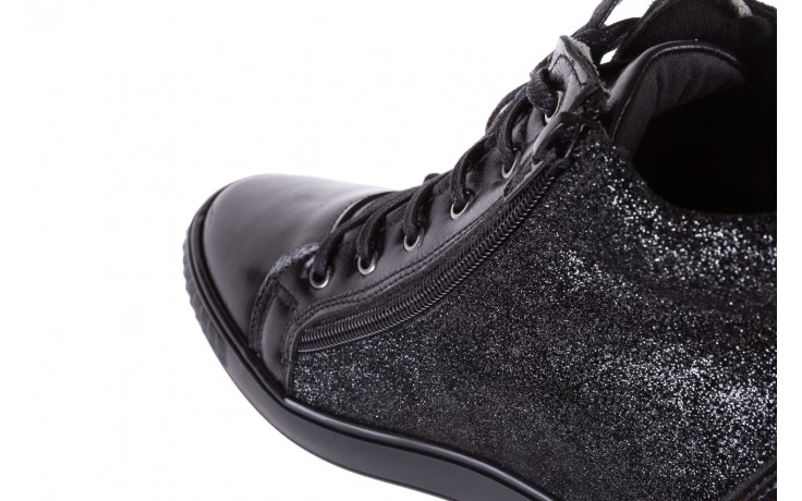 Sneakersy bayla-154 w-781 czarny, skóra naturalna 6