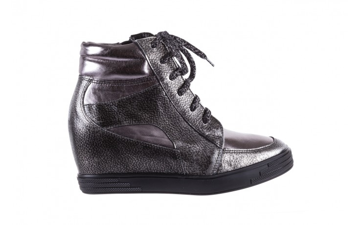 Sneakersy bayla-154 w-771 srebro, skóra naturalna  - sneakersy - buty damskie - kobieta
