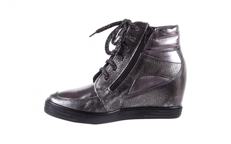 Sneakersy bayla-154 w-771 srebro, skóra naturalna  - sneakersy - buty damskie - kobieta 2