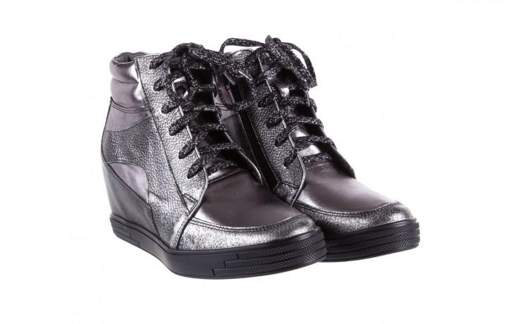 Sneakersy bayla-154 w-771 srebro, skóra naturalna  - bayla - nasze marki 1