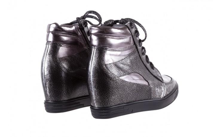 Sneakersy bayla-154 w-771 srebro, skóra naturalna  - sneakersy - buty damskie - kobieta 3