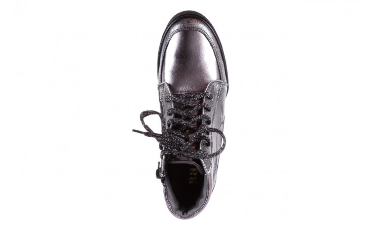 Sneakersy bayla-154 w-771 srebro, skóra naturalna  - sneakersy - buty damskie - kobieta 4