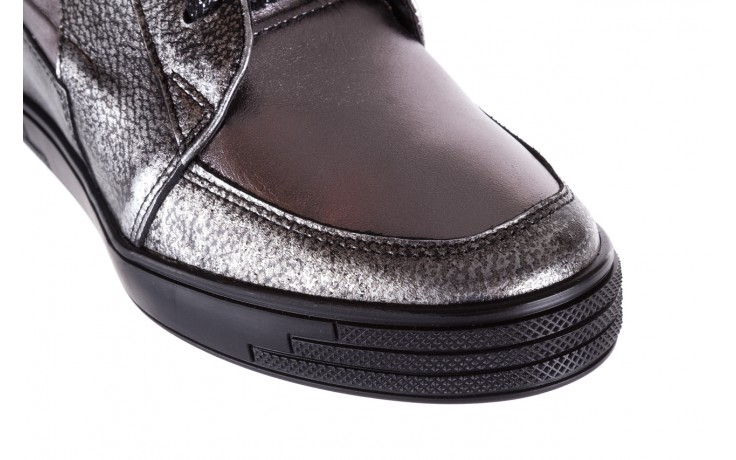 Sneakersy bayla-154 w-771 srebro, skóra naturalna  - sneakersy - buty damskie - kobieta 5